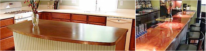 Clover Counters Laminate Countertop Examples - Kitchen and Commercial Bar