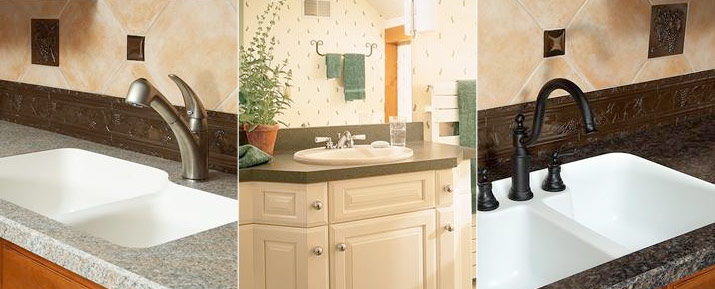 Three countertop examples - soon to be flash
